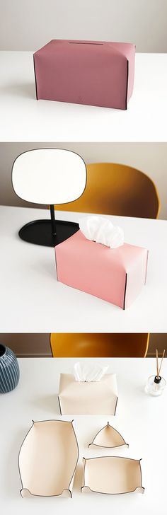 Edge Leather Tissue Cover is an effective decoration that helps my house both clean and looking unique. Made with synthetic leather, it provides a sophisticated look to your place!