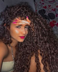 Brown Curly Hair, Long Curly Hair, Curly Girl, Curly Hair Styles, Permed Hairstyles, Girl Hairstyles, Girl Hair Colors, Afro, Queen Hair