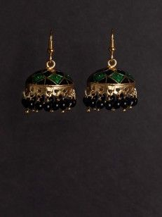Jhumki with blue and black