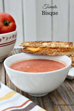 Tomato Bisque recipe! The perfect fall comfort food. Can't wait to try this recipe!
