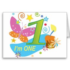 The First Birthday One Year Old Baby Greeting Card