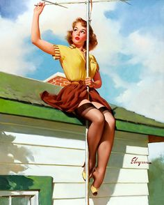"""TV Spectacular"" by Gil Elvgren,1959"
