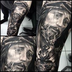 Men's Jesus Tattoo Design
