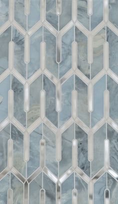 Marble Floor mosaic pattern could translate into quilt pattern -- (Chicago Petite Water Jet Mosaic by Mosaïque Surface) Floor Patterns, Tile Patterns, Textures Patterns, Floor Design, Tile Design, House Design, Home And Deco, Stone Tiles, Home Interior