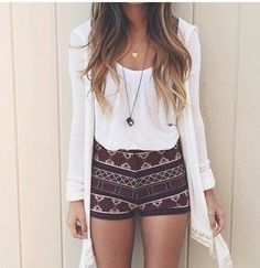 Hot pants with a cool print
