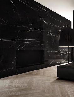 Beautiful slab of black marble//////www.dk/home Dedicated to … – Marble Decoration Marble Wall, Marble Floor, Marble Counters, Calacatta Marble, Kitchen Countertops, Exterior Design, Interior And Exterior, Tamizo Architects, Marble Fireplaces