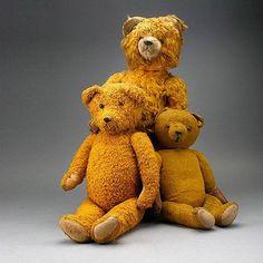 Three Vintage Stieff Bears,
