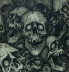 This is my second finished airbrush painting. It pretty large, around Again, airbrushing is kickass. Evil Skull Tattoo, Evil Tattoos, Skull Tattoo Design, Skull Tattoos, Skull Design, Body Art Tattoos, Harley Tattoos, Tatoos, Skull Stencil