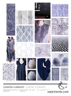 NellyRodi Print SS15. Counter-Currents. Interlaced labyrinths, whirlwinds, swirls, spirals & waves.