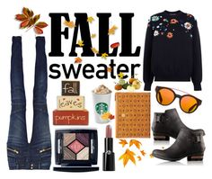 """fall sweater"" by erliza on Polyvore featuring Victoria, Victoria Beckham, Balmain, SOREL, MCM, Givenchy, Christian Dior, Giorgio Armani and Home Decorators Collection"