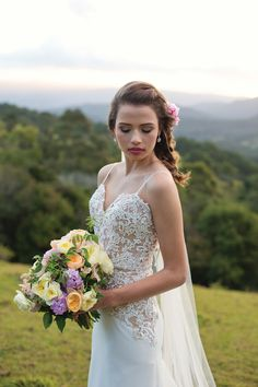 Francesca by Mori Lee featured in Sunshine Coast Brides Magazine! Image Credits: Madelyn Rose Photography, Coastal Style Hairdressing, Blooms of Noosa, KJ Artistry, Maleny Weddings
