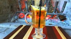 Hot toddy at Capitol Pub in Dallas, TX - Jameson Irish Whiskey, brown sugar, boiling water and a clove-studded lemon.