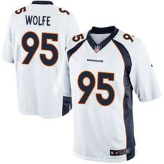 Nike Limited Derek Wolfe White Men's Jersey - Denver Broncos #95 NFL Road
