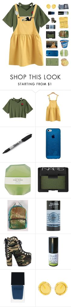 """""""♡ tell me will this deja vu never end"""" by deli-lemonade ❤ liked on Polyvore featuring WithChic, Sharpie, Pelle, NARS Cosmetics, Jean-Paul Gaultier, Privileged, Witchery and Dolce&Gabbana"""