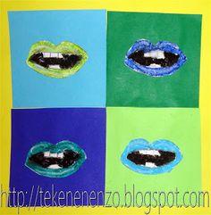 Tekenen en zo: Mondjesmaat, in de stijl van Andy Warhol