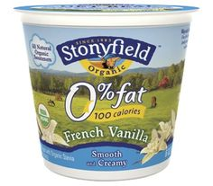 Organic French Vanilla Yogurt.  Mmmmmm!
