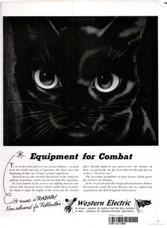 "Cats in Illustration: ""No Time to Pussyfoot,"" 1947 Advertisement 