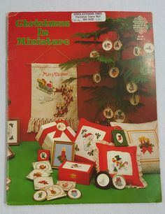 Christmas in Miniature Cross Stitch Booklet Designs by Gloria & Pat Book 5 #DesignsbyGloriaPat #CrossStitch
