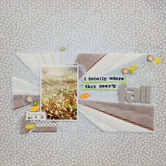 #papercraft #scrapbook #layout    fall scrapbook layout - vellum over corrugated cardboard