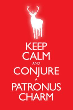 Keep Calm and Conjure a Patronus Charm Carry On Spoof Poster Print Poster...haha i like this :]