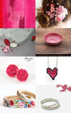 pink gifts by Marylène Chauveau on Etsy--Pinned with TreasuryPin.com