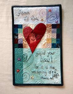 Art Quilt, Guard Your Heart