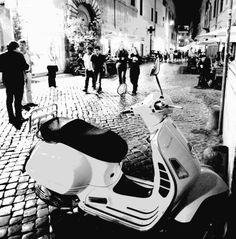 Rome at night...  #Vepsa #VespaHartford #Scooter #ScooterCentrale #Rome #Italy