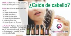 Perdida de cabello usa aceites esenciales