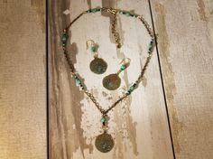 Where the fern grows necklace has a beautiful brass toned and leave stamped pendant with coordinating earrings and some stunning glass beads interspersed with the chain. Check out this and more at: https://www.etsy.com/shop/BeaDelishUS Mention Pinterest and use code Pinterest20 to save 20% through 01/31/17!!!