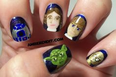 Star Wars nails by Amber did it!