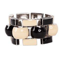 Black and Beige Mondrian Bracelet by J.W. Anderson