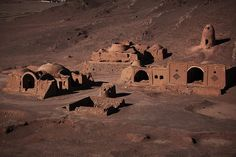 """View from a Dakhma, a """"Tower of silence"""" in Cham. One of the last Zoroastrian…"""