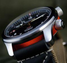 The Bremont MBII Orange barrel http://www.bremont.com/chronometers/range/mb
