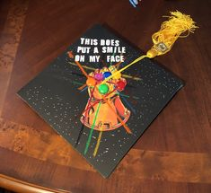 Just finished decorating my graduation-cap. I think you all might like it.