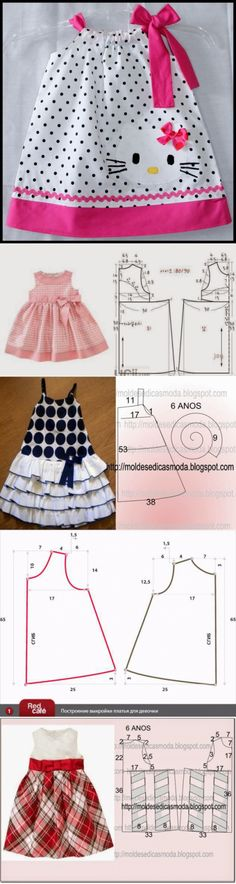 Summer Dress Patterns, Baby Dress Patterns, Baby Clothes Patterns, Sewing Patterns For Kids, Clothing Patterns, Skirt Patterns, Coat Patterns, Blouse Patterns, Dresses Kids Girl