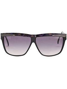 52983f172c American Apparel - Vintage Courreges Black Purple Gold Square Sunglasses  Purple Gold