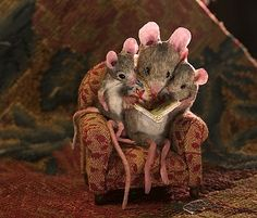 I love the mouse scenes.  There are so many it's hard to choose. But these are also reading!