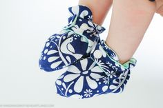 How to Sew Baby Booties & Free Pattern