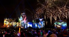 Navigating the Star Wars fireworks at Disney's Hollywood Studios.