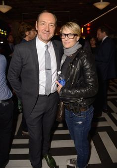 Pin for Later: See All the Stars at the Tribeca Film Festival  Robin Wright showed support for her House of Cards costar Kevin Spacey at the afterparty for Now: In the Wings on a World Stage.