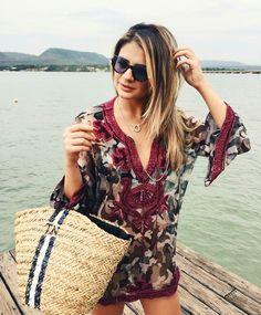 Women's Summer Fashion, Boho Fashion, Womens Fashion, Casual Chic, Boho Chic, Oversized Dress, Estilo Boho, Beach Look, Beachwear