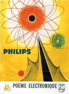 Philips 'Poème Electronique' Poster, c. 1958.: