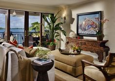 Keys   Tropical   Living Room   Miami   Tuthill Architecture