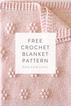Crochet Afghan Free Crochet Blanket Pattern - Crochet Velvet Flowers Blanket - When I first started brainstorming ideas for this blanket, I was actually trying to make giant polka dots. I thought… Crochet Flower Patterns, Crochet Blanket Patterns, Baby Blanket Crochet, Crochet Flowers, Crochet Stitches, Crochet Baby, Knit Crochet, Knitting Patterns, Crochet Blankets