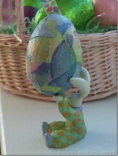 Fabric decoupaged Egg ♥