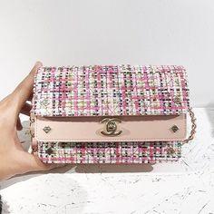 Chanel Tweed-Quilted Shoulder Bag
