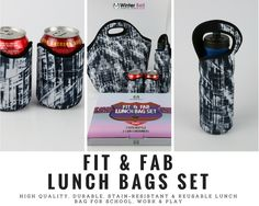 No office look is complete without a fashionable lunch bag! This styles is just right! Shop below! https://www.amazon.com/Lunch-4-piece-Insulated-Large-Neoprene/dp/B06XCJTSDC/ref=sr_1_1?ie=UTF8&qid=1496628567&sr=8-1&keywords=lunch+bag+insulated+cooler+bag&m=A3I0CLQEQ5OWW8