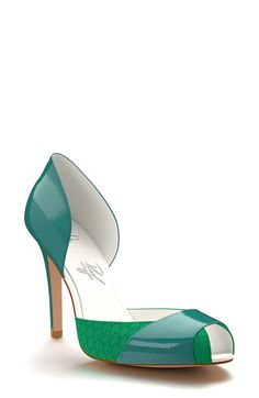 Shoes of Prey Peep Toe d'Orsay Pump (Women) available at #Nordstrom