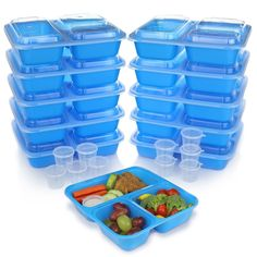 Meal Prep Containers w/ Lids. BPA Free Plastic Bento Box Best for Food Storage, Portion Control & Weight Loss. BONUS 10 Sauce Cups - List for Home and Garden Products Meal Prep Containers, Food Storage Containers, Healthy Diet Recipes, Healthy Snacks, Portion Control, Toddler Meals, Bento Box, Cool Toys, Dishwasher