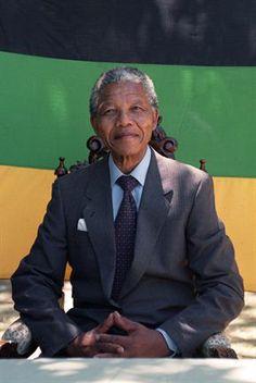 Nelson Mandela. President of South Africa.
